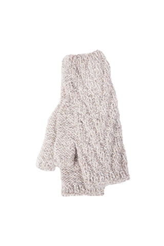 alpaca wool cream color gloves