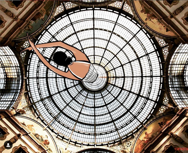 fashion illustration beautiful ceiling
