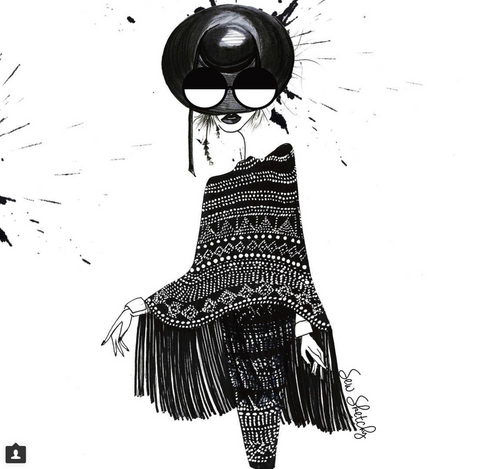 black and white fashion illustration amazing