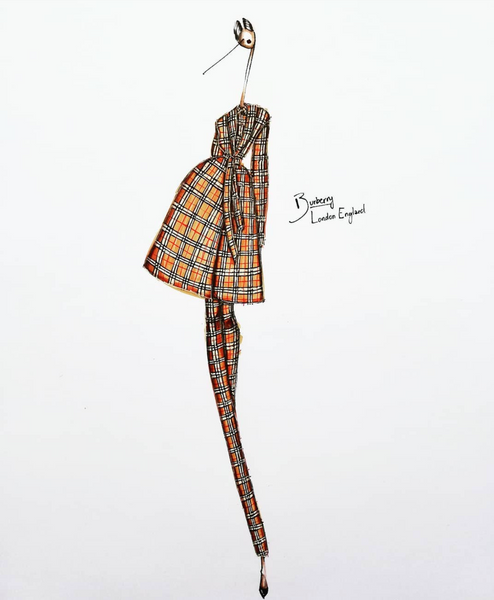 fashion illustration burberry london