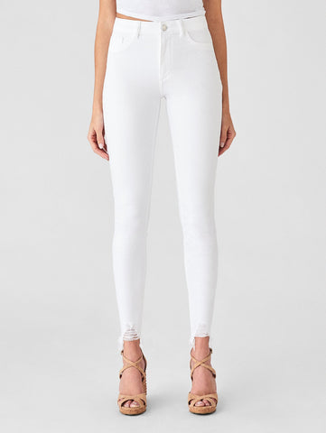 high rise skinny white ripped jeans sexy