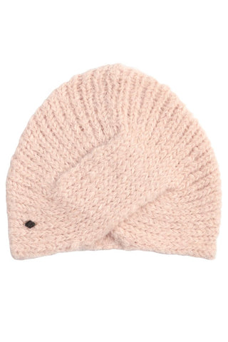 pink alpaca wool turban hat