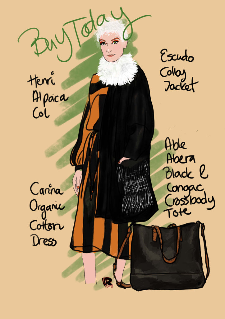 sustainable fashion illustration rebecca rillysdotter