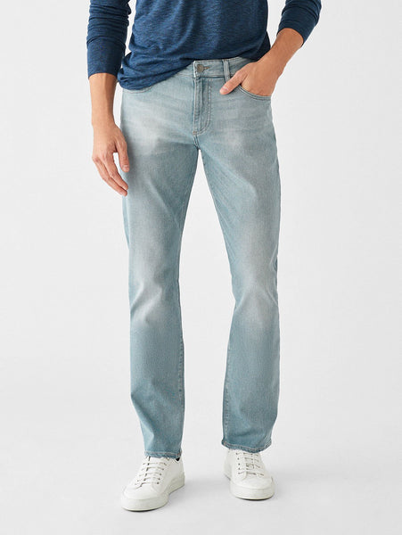 slim straight men jeans light blue tencel