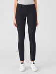 clean black mid rise tall skinny jeans tencel