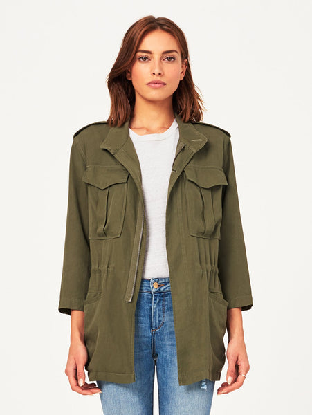 military green jacket pockets tencel linen