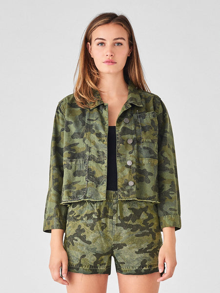 camouflage denim jacket tencel cotton