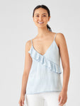 light blue tencel tank top