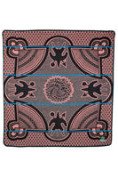 salmon color geometric patterned blanket