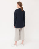 navy oversized organic cotton sweatshirt back