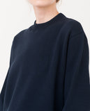 navy oversized organic cotton sweatshirt front zoom