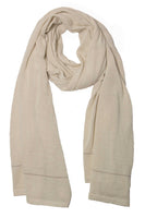 extra long double scarf in cream color 100% alpaca wool