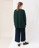 dark green knitted oversized jumper back