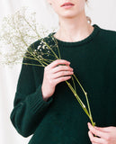 dark green knitted oversized jumper zoom