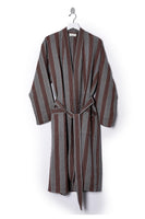 grey and wine red striped house 100% soft cotton robe unisex