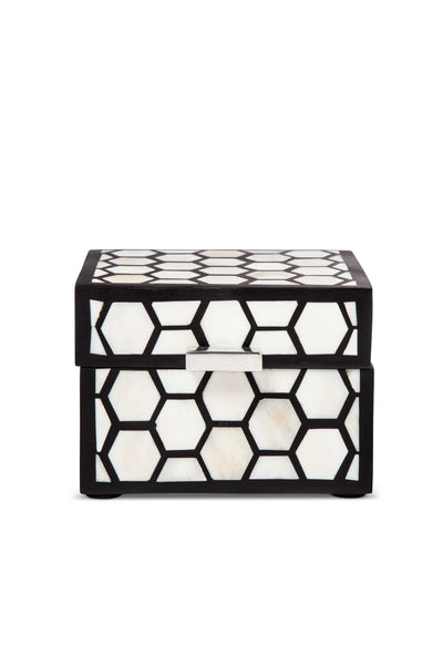 decorative jewellery box black and white
