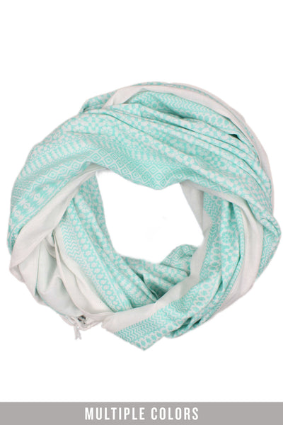 oversized embroidered scarf in light teal