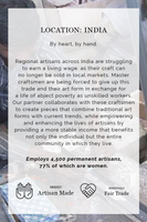india artisan made fair trade description
