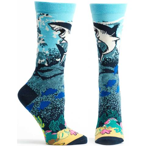 shark print cotton socks quality
