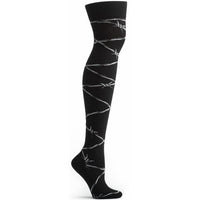 black over the knee sock cotton high quality