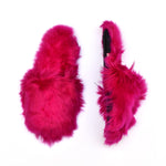 luxurious fuchsia baby alpaca wool slippers