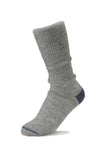 grey alpaca wool socks