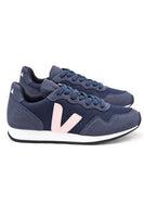 veja navy blue and baby pink sneakers