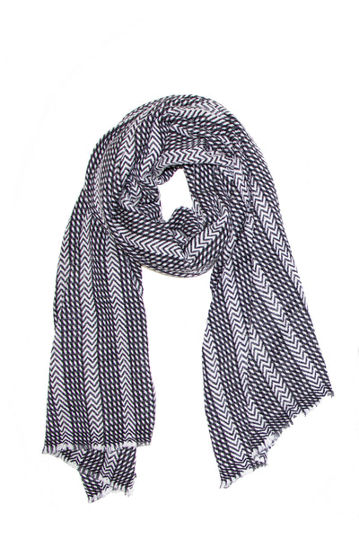 chevron grey wrap scarf