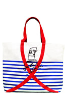 summer bag nautical stripes aids awareness