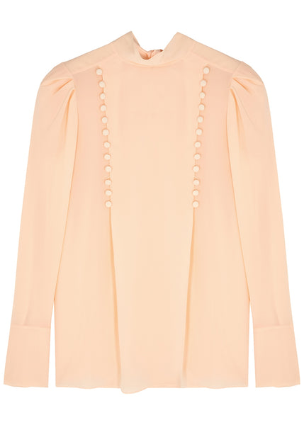 Givenchy Blush Silk-Chiffon Blouse