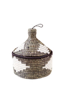 Marrakech Geometric Woven Basket white