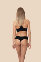 invisible black thong organic