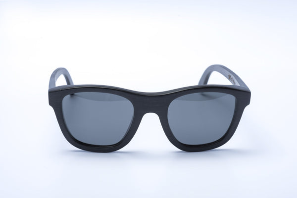 black bamboo simple basic shape sunglasses