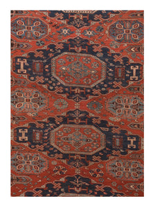 Antique Soumak Russian Area Rug