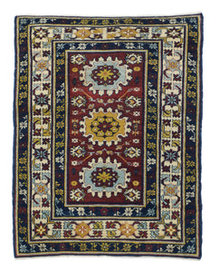 Antique Red Shirvan Kuba Russian, Area Rug