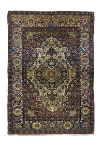 Antique Red Tehran Persian Area Rug