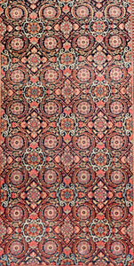 Antique Kashan Dabir Persian Area Rug
