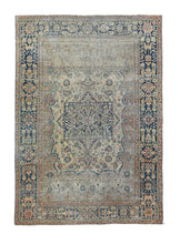 Load image into Gallery viewer, Antique Brown Mohtasham Kashan Persian Area Rug