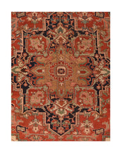 Load image into Gallery viewer, Antique Serapi Persian Area Rug