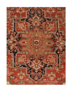 Antique Serapi Persian Area Rug