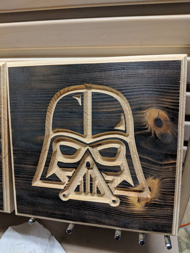 Vader Engraved Wood Sign
