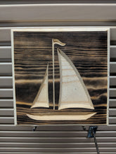 Load image into Gallery viewer, Sailboat Engraved Wood Sign