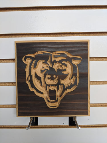 Bear Engraved Wood Sign