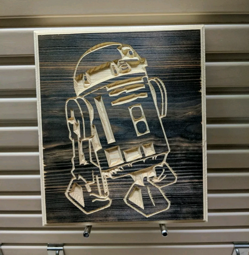 R2 D2 Engraved Wood Sign