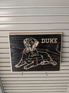 Customizable Mastiff Dog Name Engraved Wood Sign