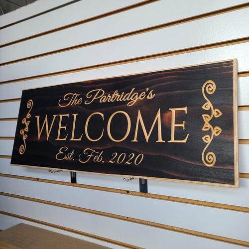 Customizable Welcome Wedding Sign, Wedding Gift, anniversary gift, custom Engraved Wood Sign