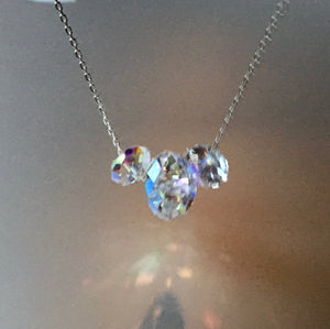 Crystal Mickey Mouse Necklace on Sterling Silver .925 Disney Inspired
