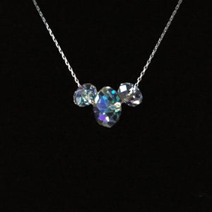 Mickey Mouse Crystal Jewelry Disney Inspired Mickey Crystal Necklace