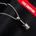 NEW ORIGINAL DESIGN BUY NOW !!! Mini Engine Piston Pendant Stainless Steel Necklace Biker