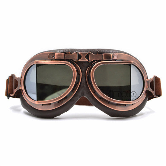 Vintage Motorcycle Goggles Retro Steampunk UV Protection Copper Multi